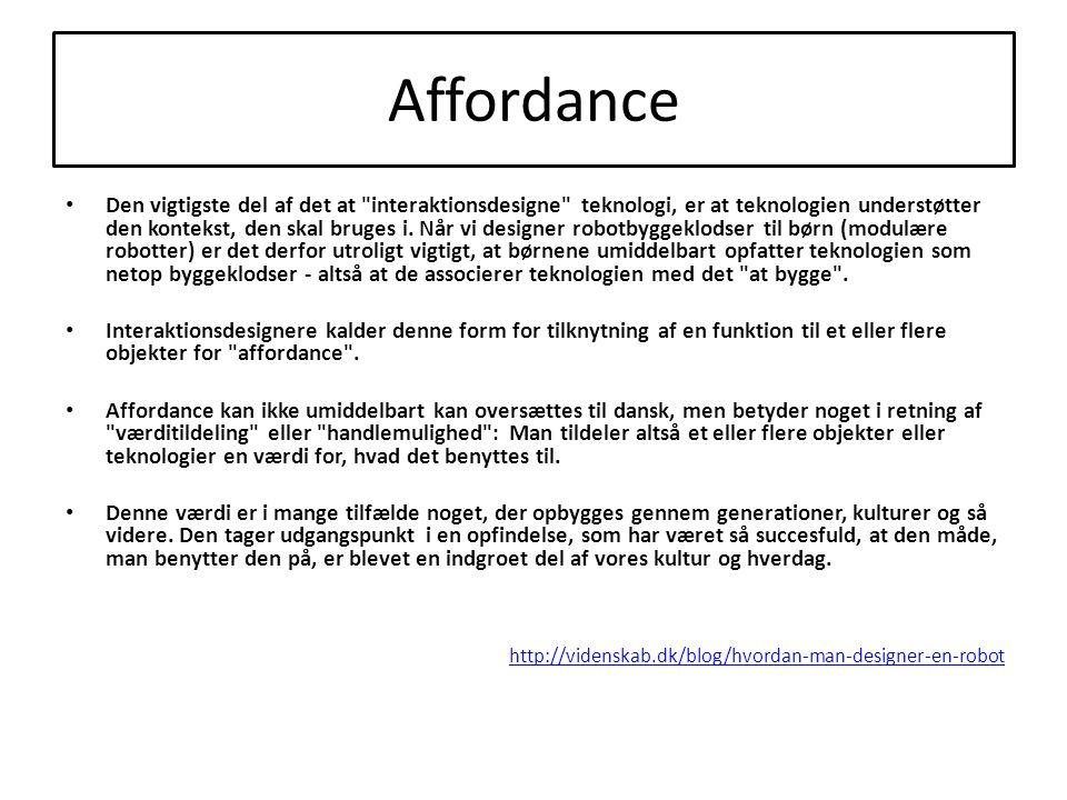Affordance