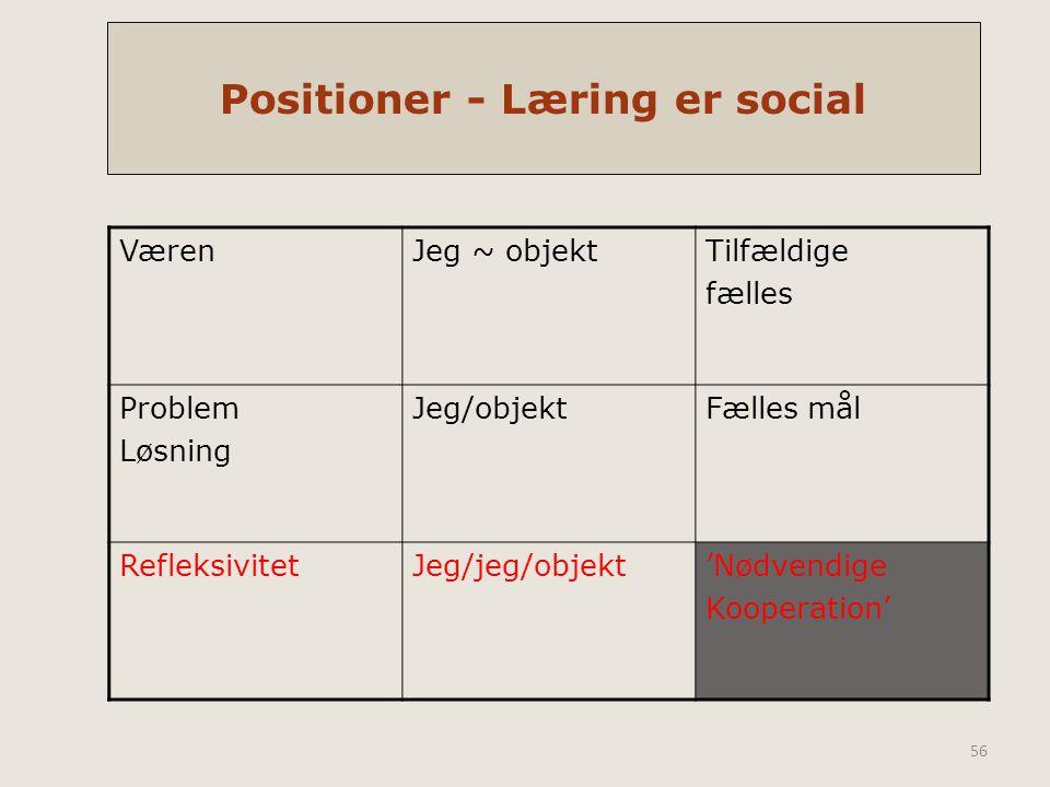 Positioner - Læring er social