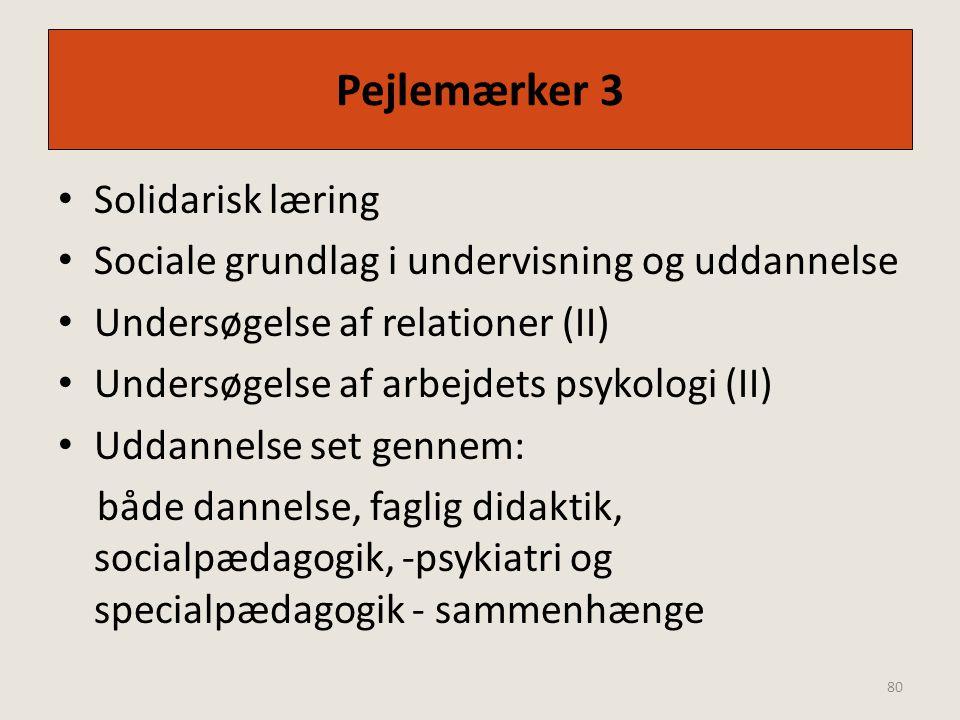 Pejlemærker 3 Solidarisk læring