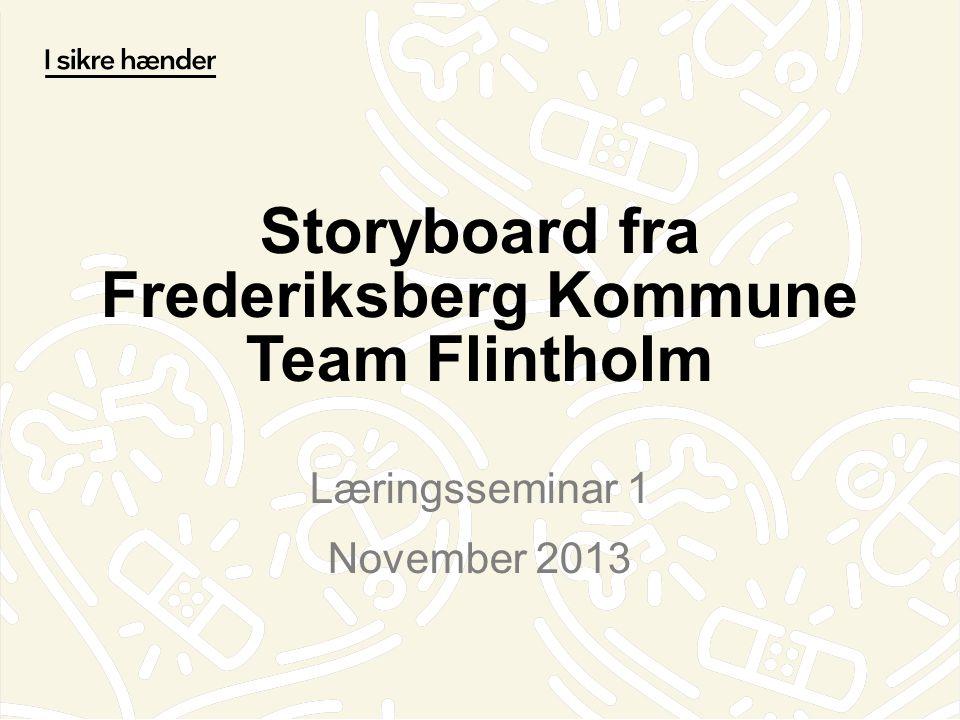 Storyboard fra Frederiksberg Kommune Team Flintholm