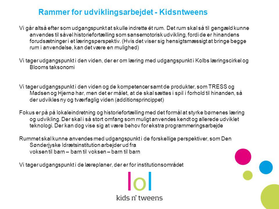 Rammer for udviklingsarbejdet - Kidsntweens