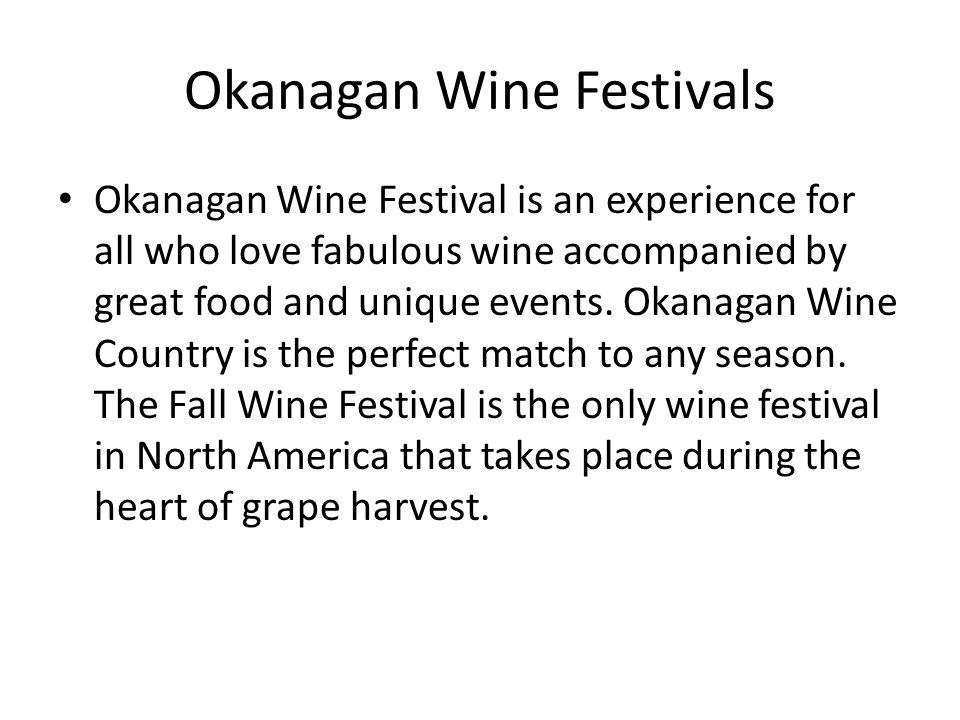 Okanagan Wine Festivals