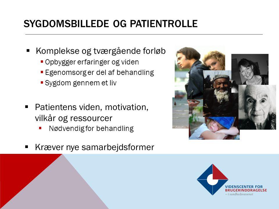 Sygdomsbillede og patientrolle