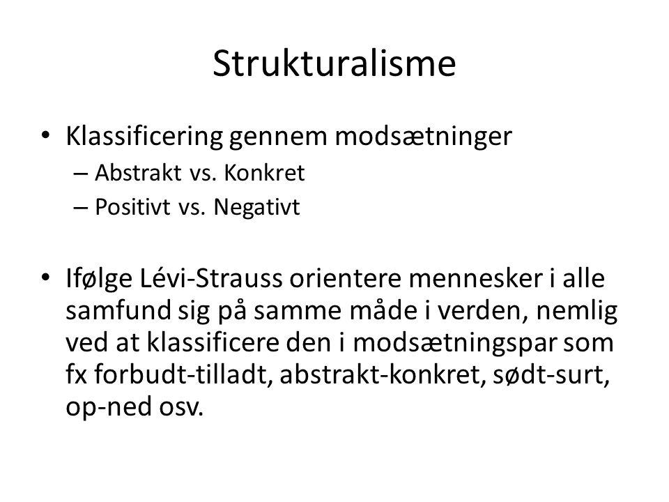 Strukturalisme Klassificering gennem modsætninger