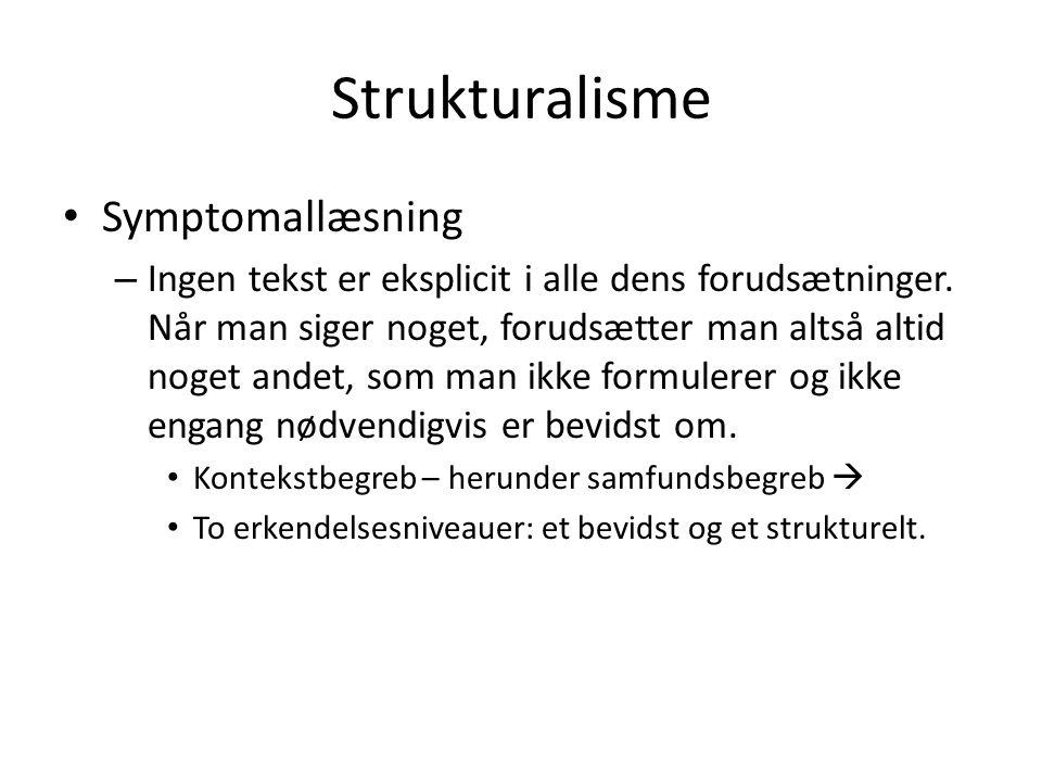 Strukturalisme Symptomallæsning