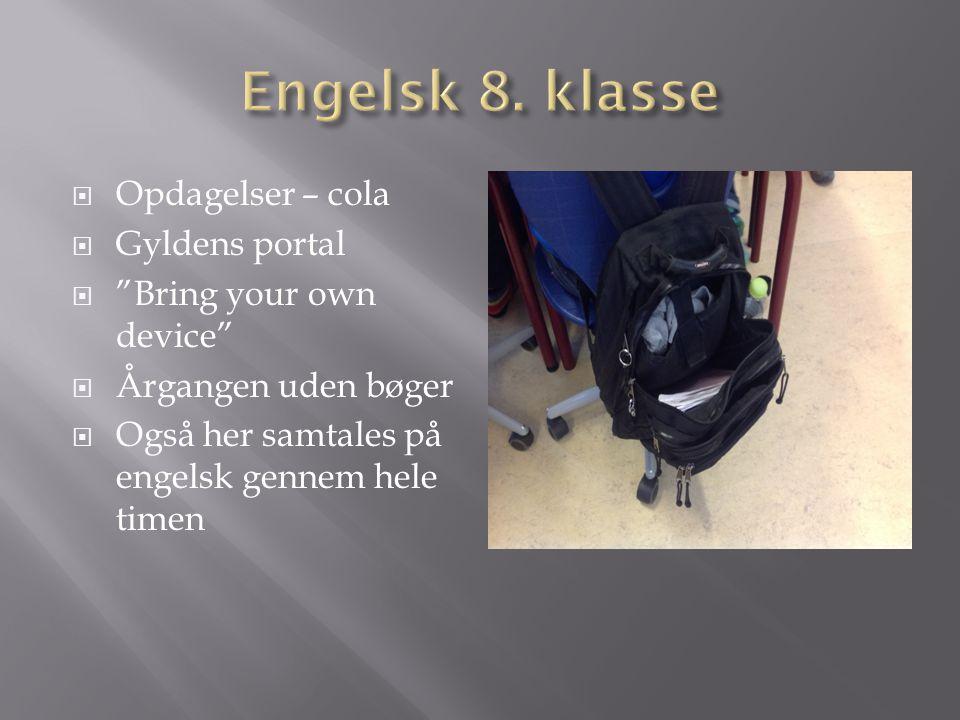 Engelsk 8. klasse Opdagelser – cola Gyldens portal