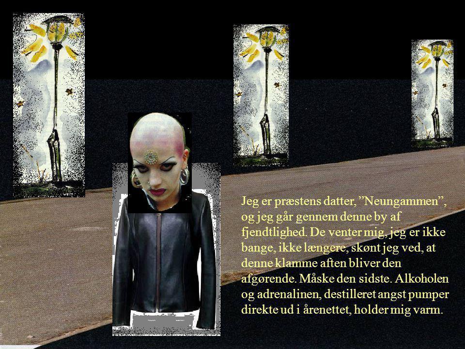 Jeg er præstens datter, Neungammen , og jeg går gennem denne by af fjendtlighed.