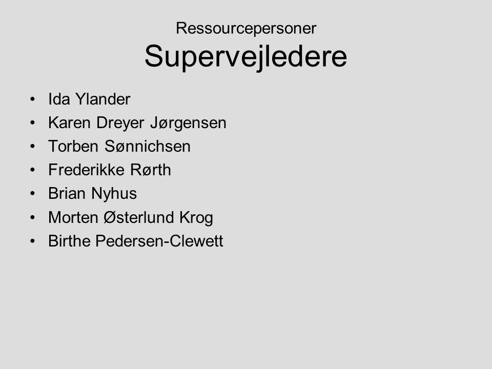Ressourcepersoner Supervejledere