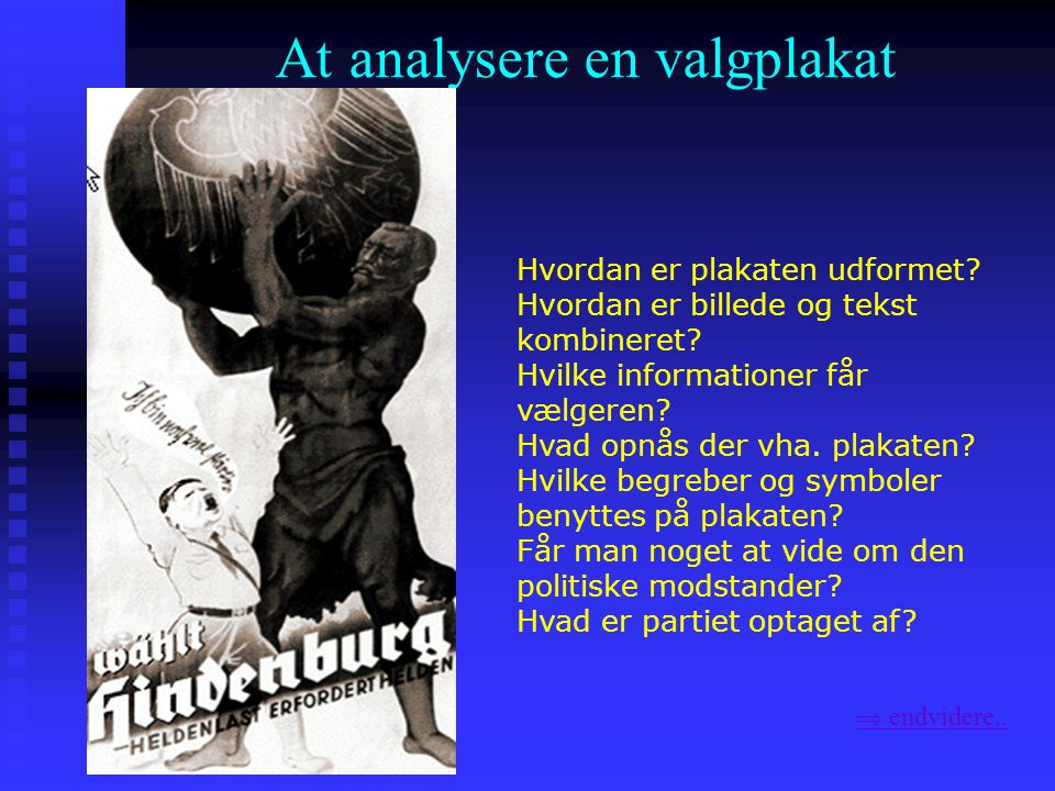 At analysere en valgplakat