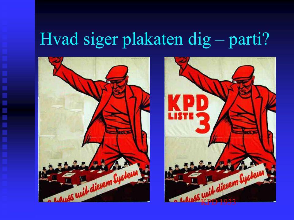 Hvad siger plakaten dig – parti
