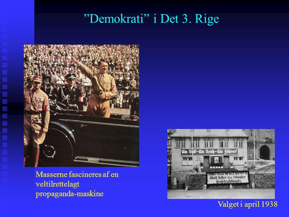 Demokrati i Det 3. Rige Masserne fascineres af en veltilrettelagt propaganda-maskine.