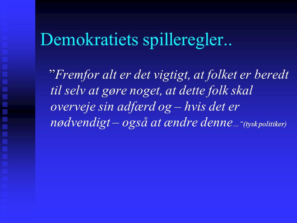 Demokratiets spilleregler..