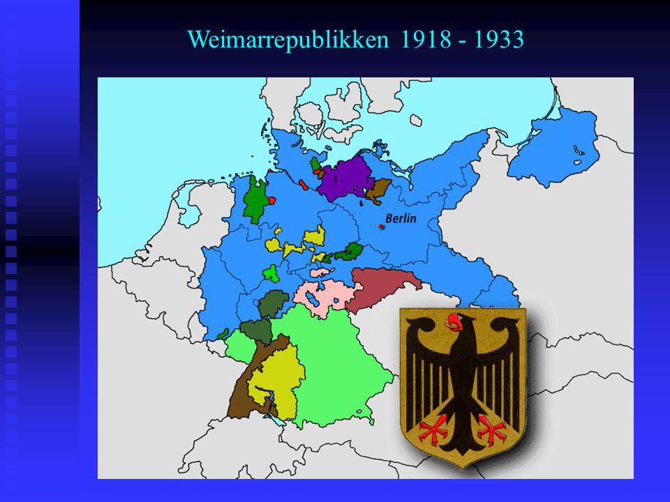 Weimarrepublikken 1918 - 1933