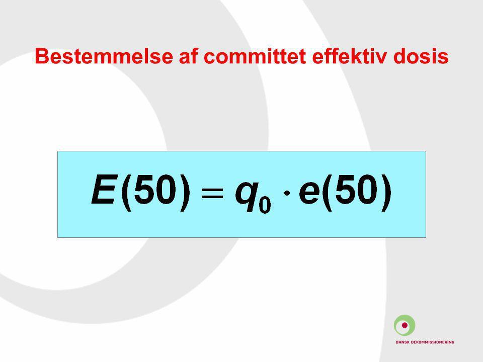 Bestemmelse af committet effektiv dosis