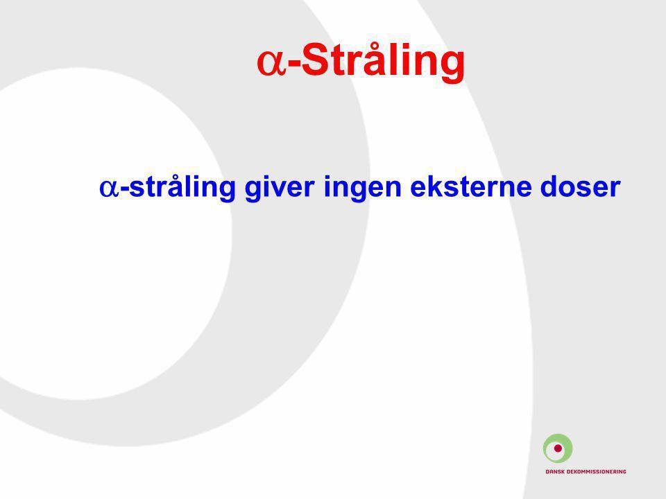 a-Stråling a-stråling giver ingen eksterne doser