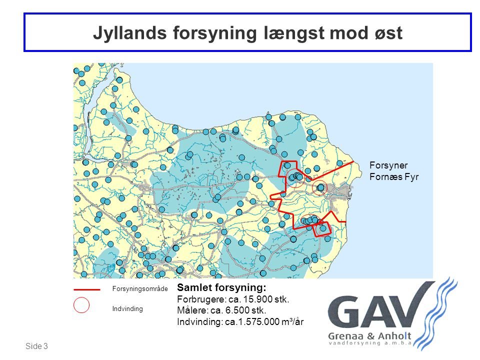 Jyllands forsyning længst mod øst