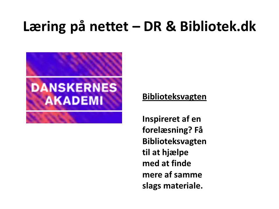 Læring på nettet – DR & Bibliotek.dk