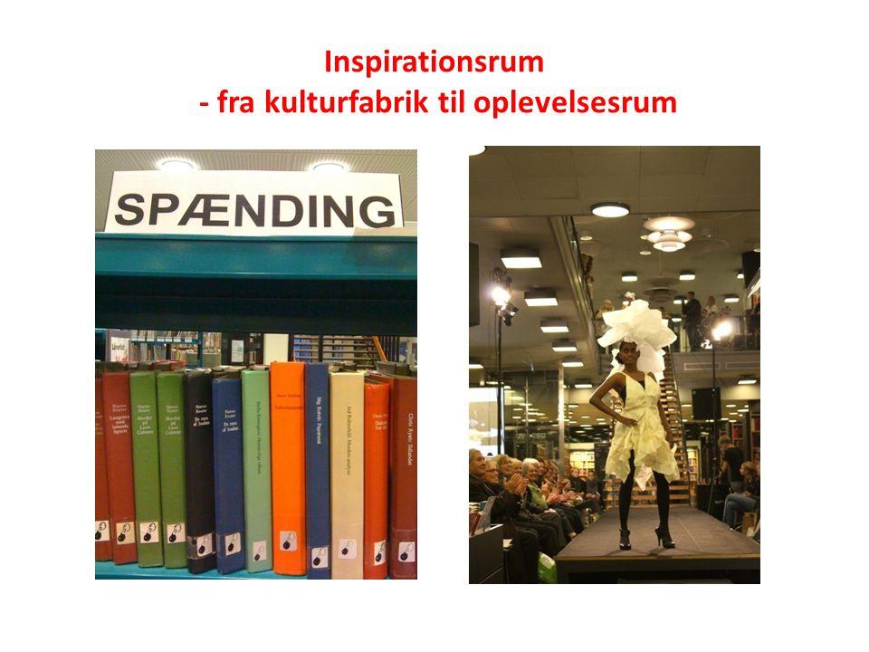 Inspirationsrum - fra kulturfabrik til oplevelsesrum