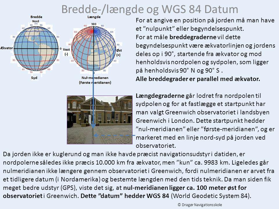 Bredde-/længde og WGS 84 Datum