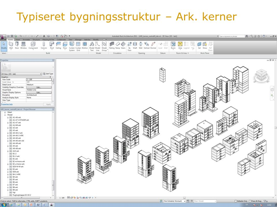 Typiseret bygningsstruktur – Ark. kerner
