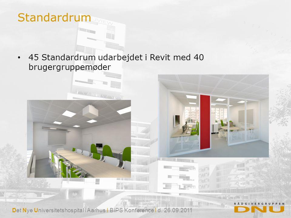 Standardrum 45 Standardrum udarbejdet i Revit med 40 brugergruppemøder