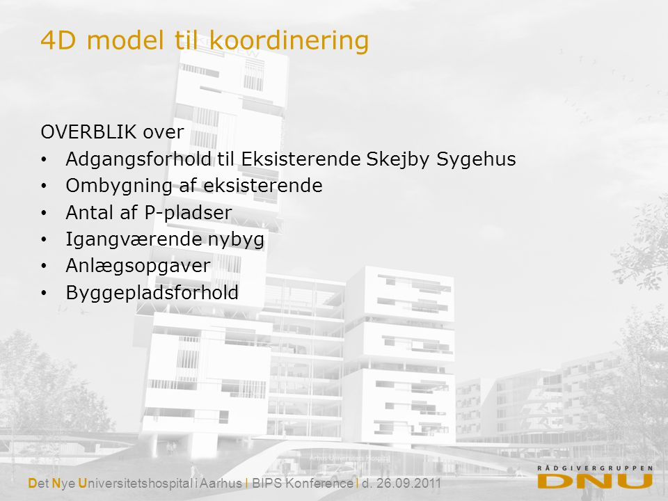 4D model til koordinering