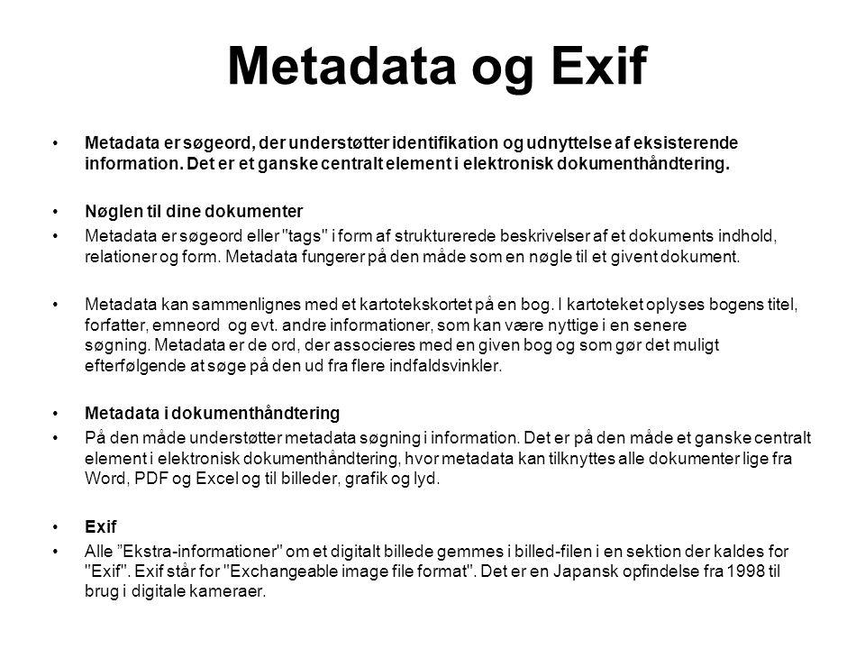 Metadata og Exif