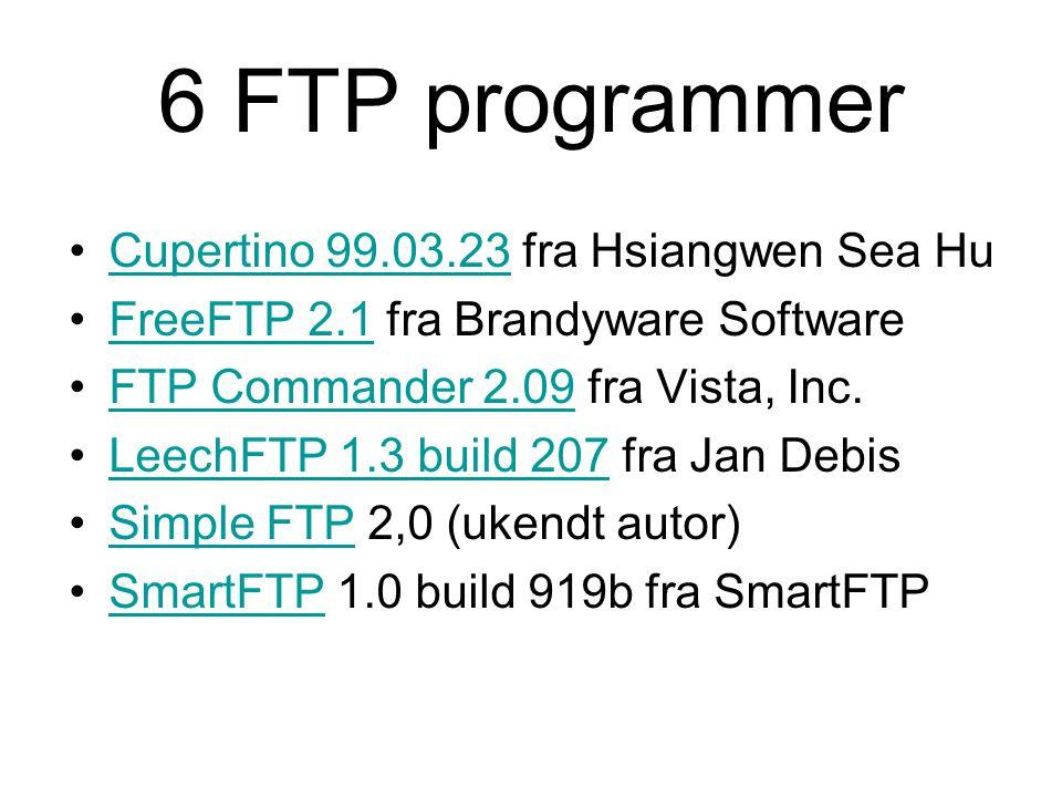 6 FTP programmer Cupertino 99.03.23 fra Hsiangwen Sea Hu