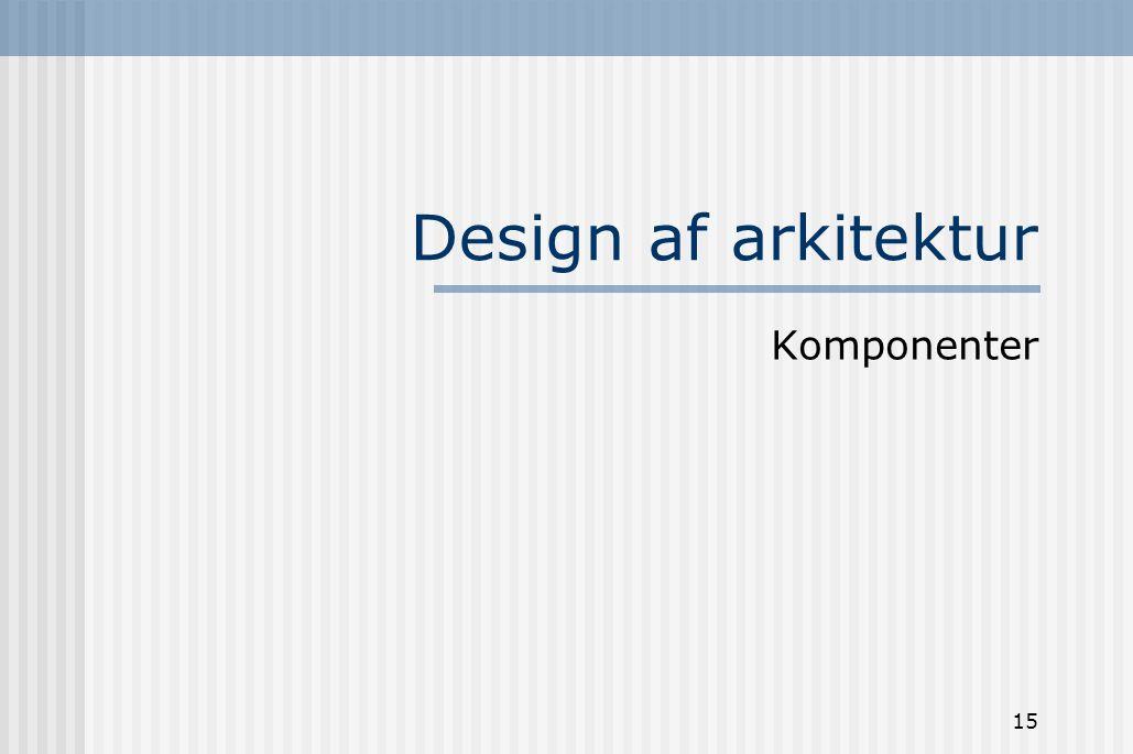Design af arkitektur Komponenter