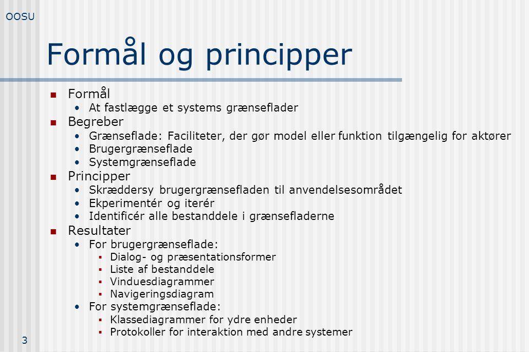 Formål og principper Formål Begreber Principper Resultater
