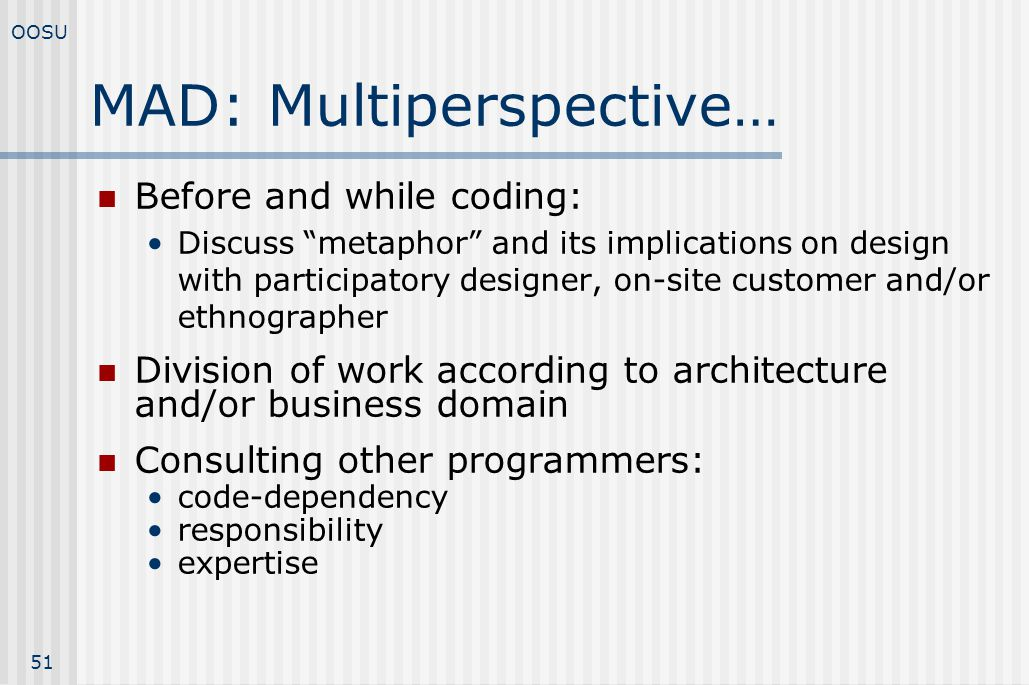 MAD: Multiperspective…