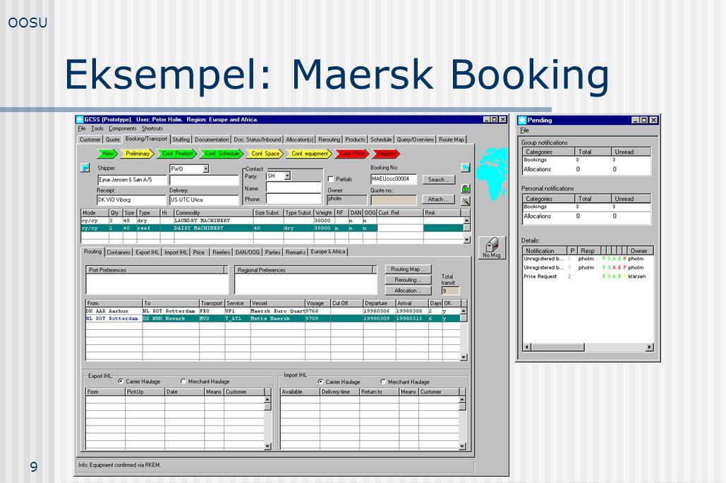 Eksempel: Maersk Booking