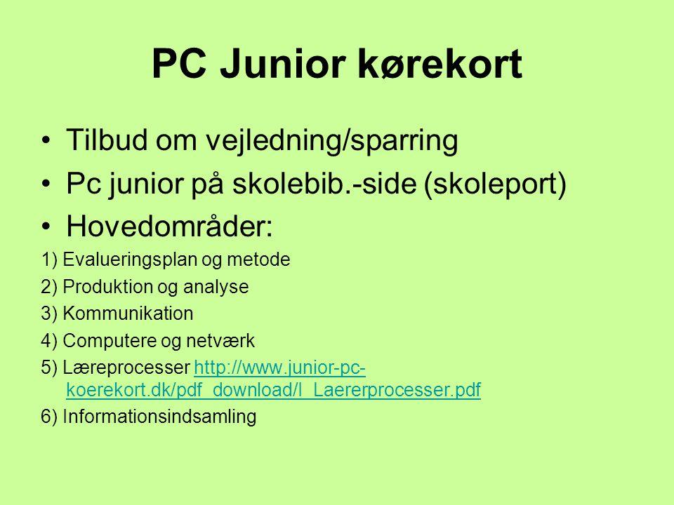 PC Junior kørekort Tilbud om vejledning/sparring