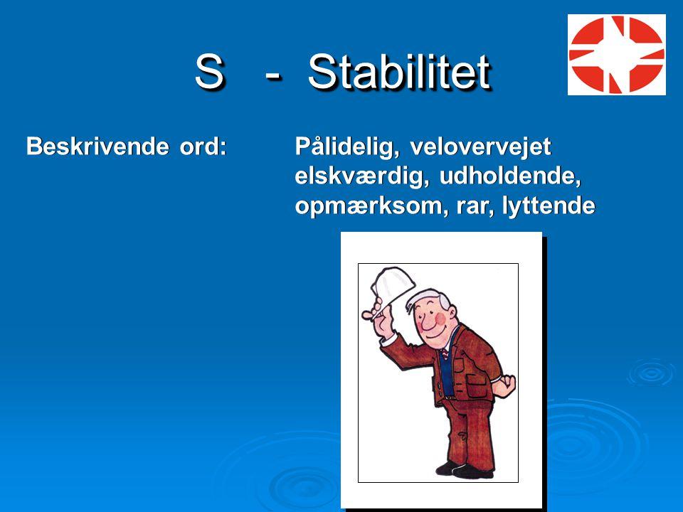 S - Stabilitet Beskrivende ord: