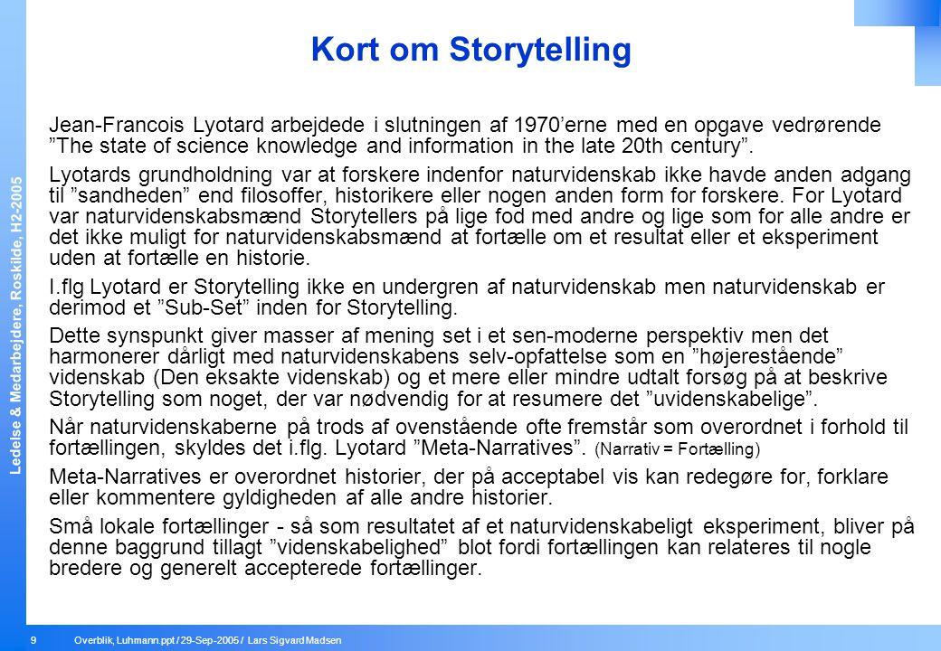 Kort om Storytelling