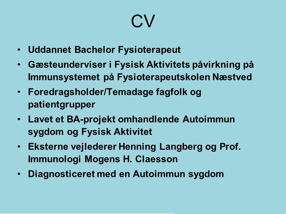 CV Uddannet Bachelor Fysioterapeut