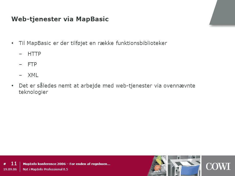 Web-tjenester via MapBasic