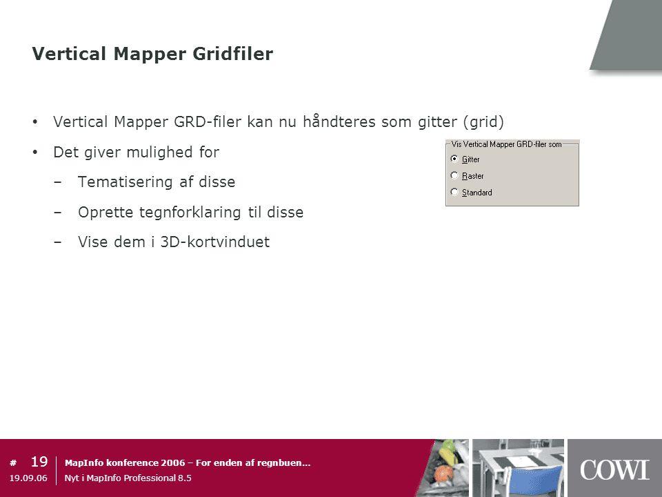 Vertical Mapper Gridfiler