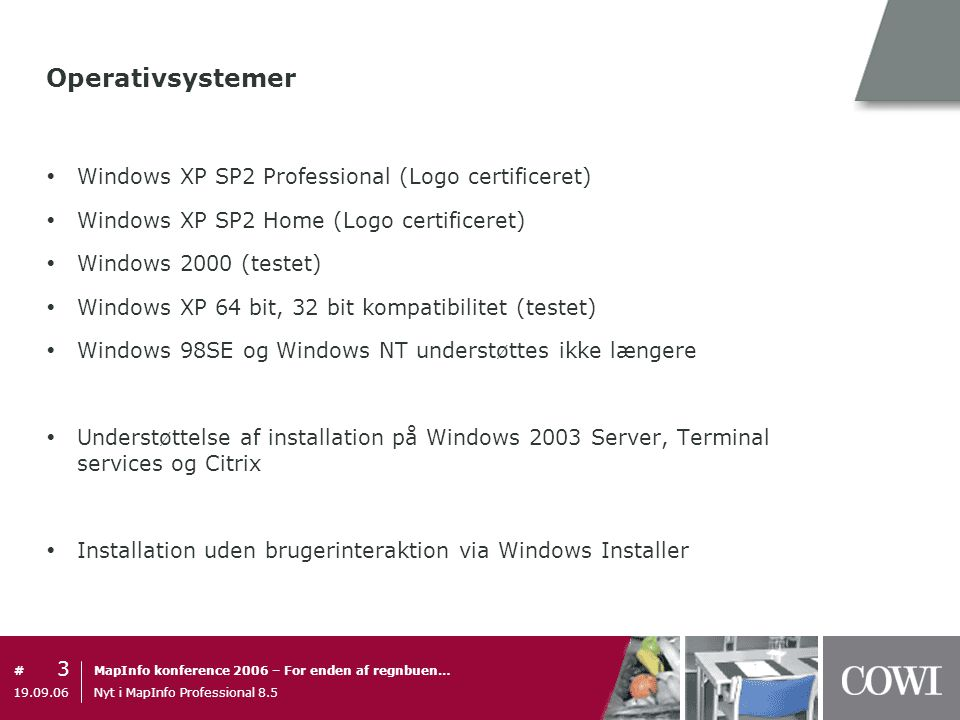 Operativsystemer Windows XP SP2 Professional (Logo certificeret)