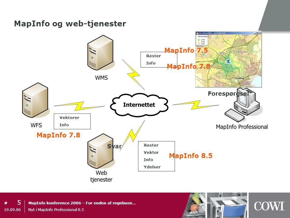 MapInfo og web-tjenester