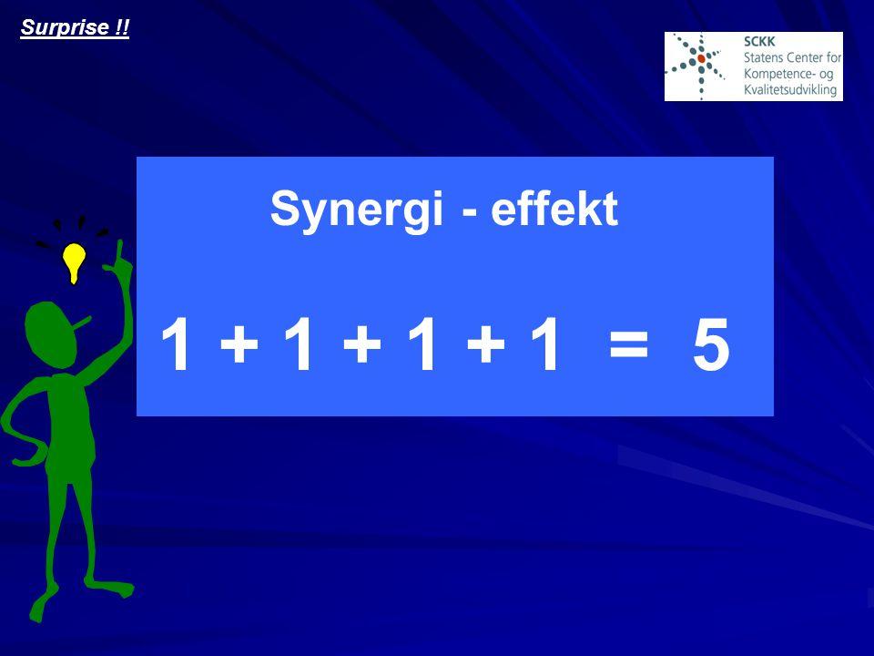 Surprise !! Synergi - effekt 1 + 1 + 1 + 1 = 5