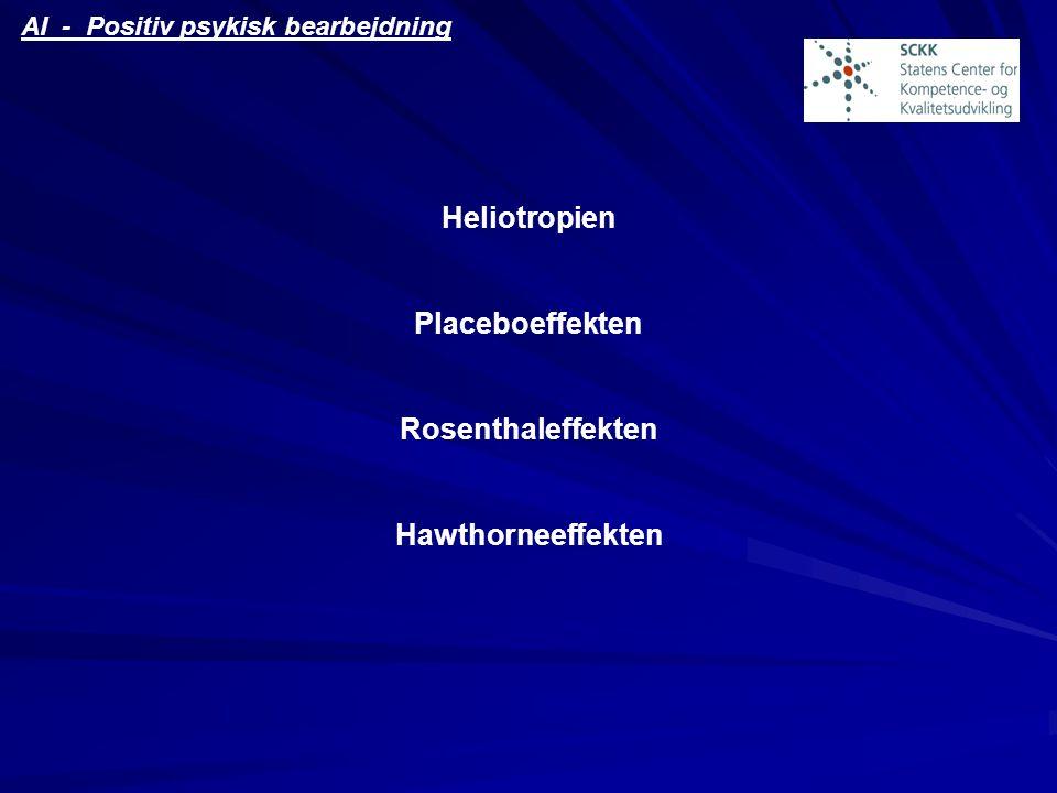 Heliotropien Placeboeffekten Rosenthaleffekten Hawthorneeffekten