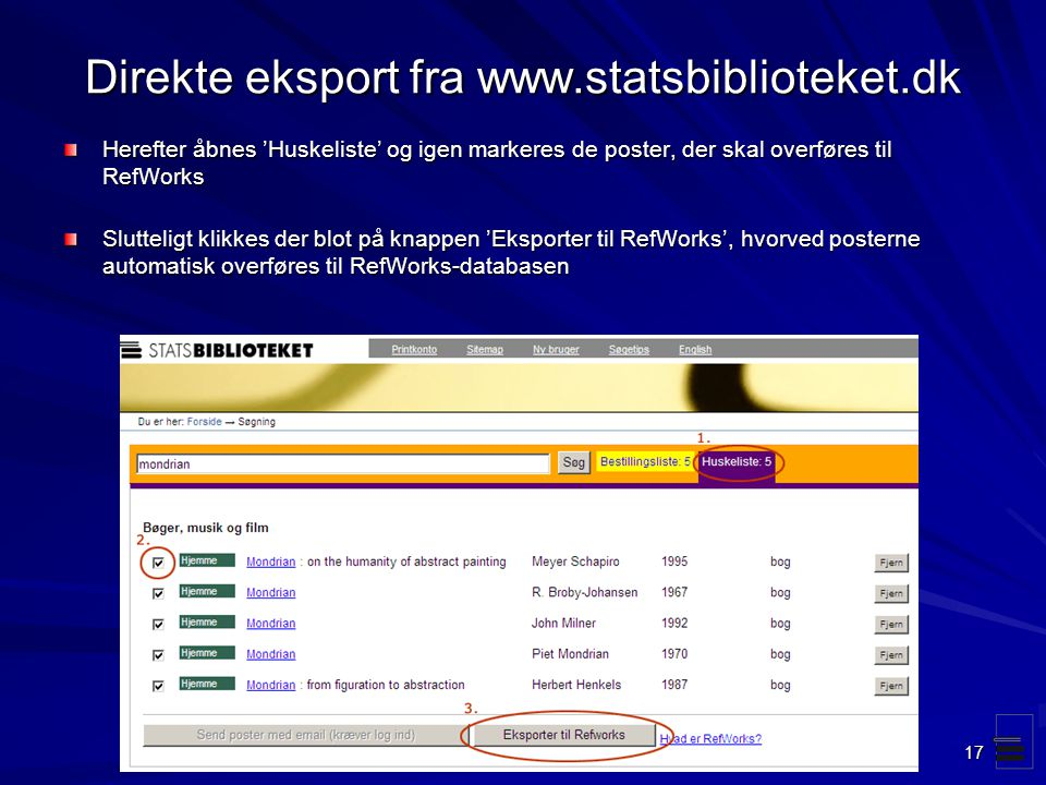 Direkte eksport fra www.statsbiblioteket.dk