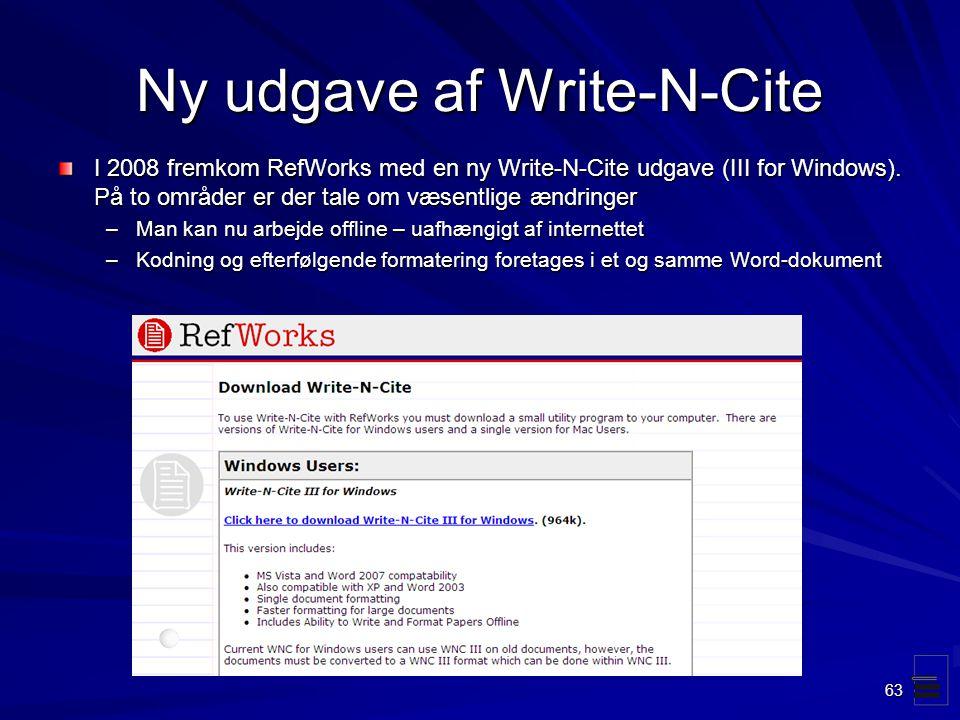 Ny udgave af Write-N-Cite