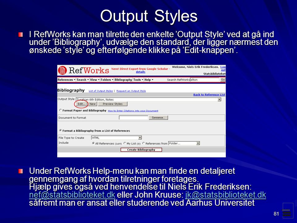 Output Styles