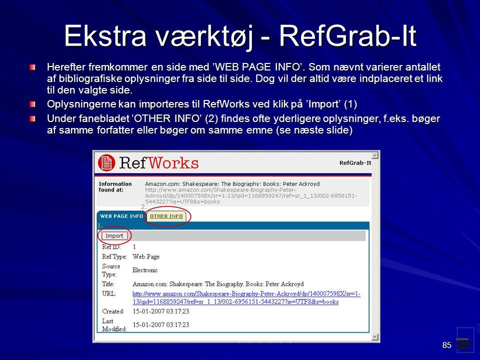 Ekstra værktøj - RefGrab-It