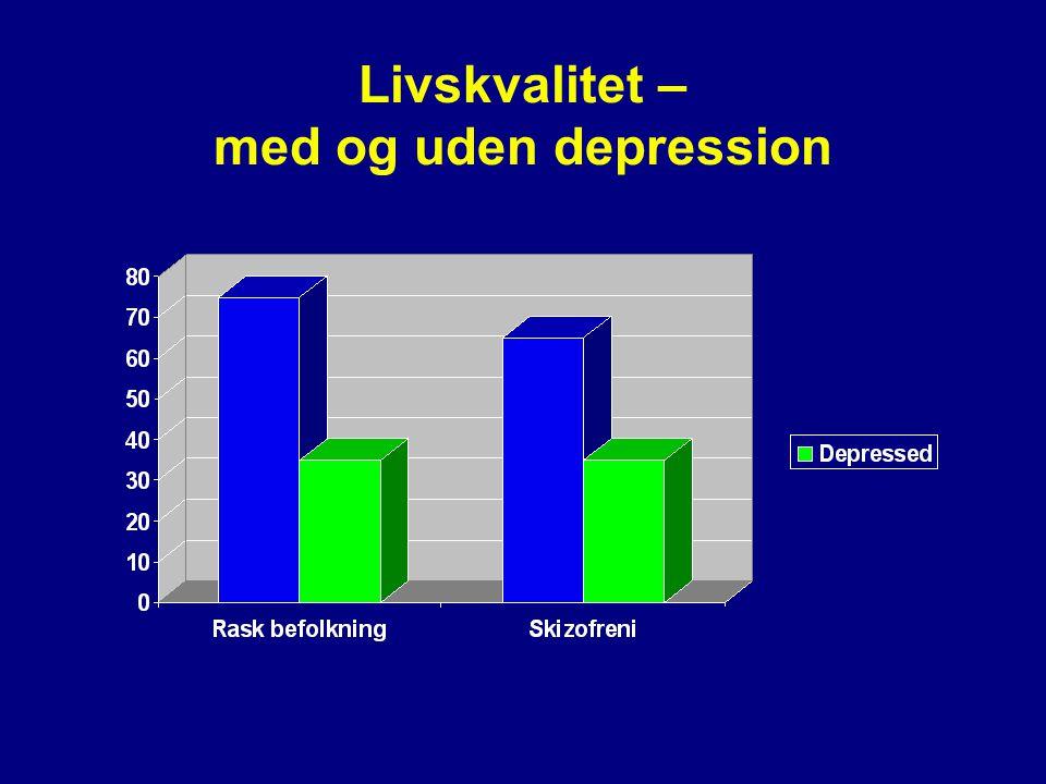 Livskvalitet – med og uden depression