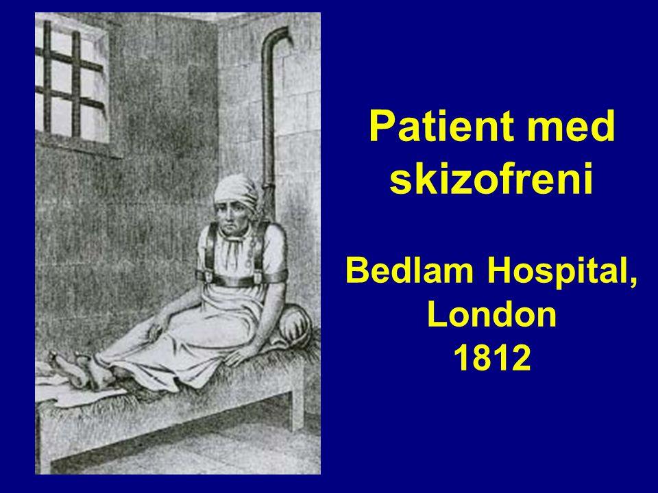 Patient med skizofreni Bedlam Hospital, London 1812