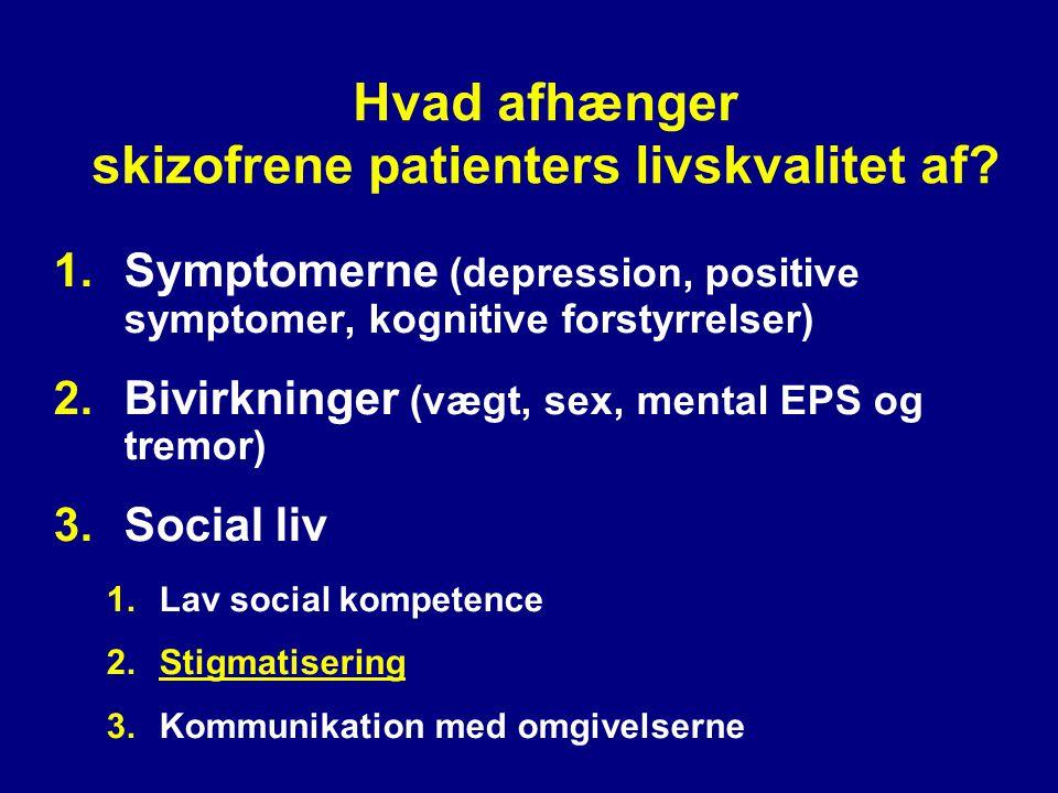Hvad afhænger skizofrene patienters livskvalitet af