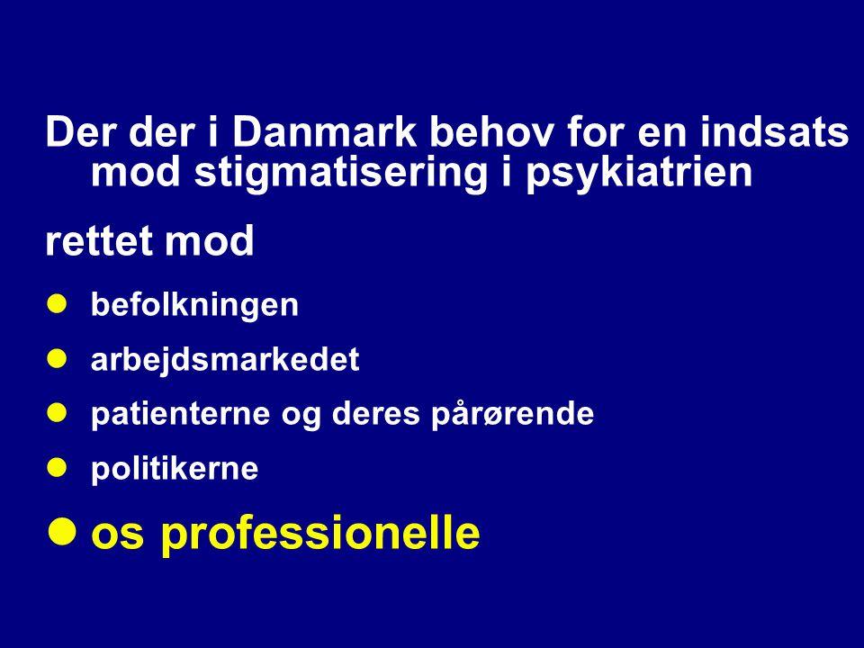 Der der i Danmark behov for en indsats mod stigmatisering i psykiatrien